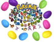24 Pokemon Mini Figures Filled Easter Eggs. Perfect for Easter Hunting