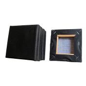 SL crafts Black Mini Stretched Canvas 10cm x 10cm