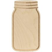 Baltic Birch Mason Jar Shape-13cm x 23cm X.90cm