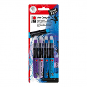 Marabu Art Crayon Set Blue Ocean