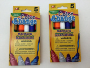Set of Two (2) 5-packs of Colour Change Markers