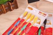Melula 4pcs Oral Care Nano Bamboo Charcoal Toothbrush Ultra Soft Toothbrush