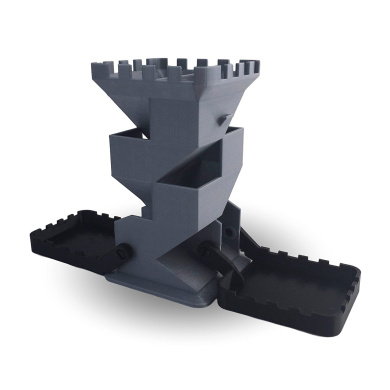 Black and Grey Folding Dice Tower - Table Top Gaming - 3D Printed