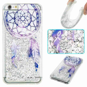 iPhone 6 Case, iPhone 6S Case,ARSUE Cool Moving Bling Glitter Sparkle Design Printed Liquid Quicksand Transparent Soft Case for iPhone 6 / 6S