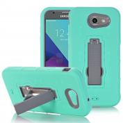 LG Stylo 3 Case, ARSUE [Drop Protection] [Shock Absorption] Hybrid Dual Layer Armour Defender Protective Case Cover with Kickstand for LG Stylo 3 - Mint