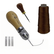 JC Performance Leather Sewing Awl Quick Punch Stabber Stitch Repair Tool Set Heavy Duty Tread