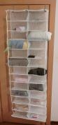 wholesale! Homewares 26 Pocket Over the Door Organiser Shoe Shelves Clothes Storage White