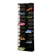 wholesale! Homewares 26 Pocket Over the Door Organiser Shoe Shelves Clothes Storage Black