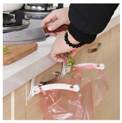 Kemilove Kitchen Cupboard Lively Tailgate Stand Storage Garbage Bags Hanging Hook