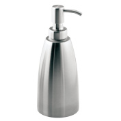InterDesign Forma Stainless Steel Liquid Soap & Lotion Dispenser Pump for Kitchen or Bathroom Countertops, Brushed