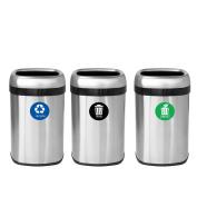 iTouchlessTrash Stickers Premium Vinyl Decals for Trash Can; 7.6cm Round Waterproof, Reusable (Set of 3); Indoor/Outdoor (7.6cm x 7.6cm