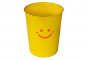 Wastebasket, 5.7l Happy Face in Yellow
