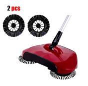 Singleluci 2Pcs Side Brush For Home Use Magic Manual Floor Dust Sweeper