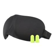 Migola Ergonomic 3D Sleep Mask & blindfold for Travel, Nap, Shift Works 2 Pack with Ear Plugs