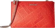 LOVE Moschino Women's Embossed Logo Pouch Bag Orange