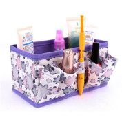 TRENDINAO 2017 New Purple Makeup Cosmetic Foldable stationery Container Holder Bag Box