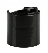 Disc Cap Black PP 24-410 smooth skirt disc top unlined cap
