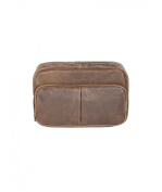 Scully Aero Squadron Vintage Leather Large Hanging Toiletry Shave Kit Walnut
