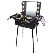 Muses Poem Studio To Go Makeup Case with Light Pro Makeup Station