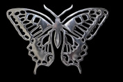 Giant Casa Padrino designer butterfly made of polished aluminium, silver, H 29 cm, W 41 cm - Wall figure, wall decoration Aluminium