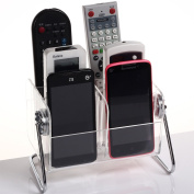 Remote Control Holder, Danny House Remote Control Organiser Acrylic Caddy Holder With 6 Case for Table,Desk,Bedside,Coffee or End Table