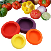 ASOON Reusable Silicone Vegetable Fruit Fresh Cover Food Saver Kitchen Storage Containers Set