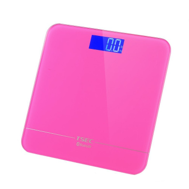 MEINI Bluetooth Scales Blue LCD Display Body Fat Weights On Your Phone Rose Pink