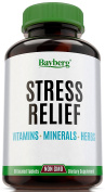 Stress Relief & Immune Support Supplement with Vitamins, Minerals and Herbs. Anti Anxiety & Fatigue Relief. Antioxidant with Vitamin C, B Complex, Calcium, Magnesium, Chamomile & Passion Flower