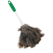 Libman Commercial 239 Handheld Feather Duster, Polypropylene and Sanoprene Handle, 33cm total length, Green and White Handle