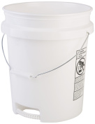 Hudson Exchange Premium 90 Mil HDPE Bucket with Bottom Grip Handle, 18.9l White