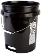 Hudson Exchange Premium 90 Mil HDPE Bucket with Bottom Grip Handle, 18.9l Black