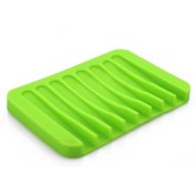 Tloowy Silicon Kitchen Bathroom Flexible Soap Dish Plate Holder Tray Soapbox Sponge Holder Kitchen Gadget Organiser
