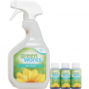 Green Works Glass Cleaner Concentrate, pack includes Spray Trigger bottle and 3 - 30ml concentrate bottles