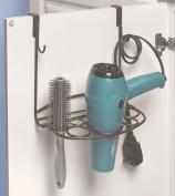 Home-organiser Tech Cabinet Organiser Hair Dryer Holder Cabinet Grid Basket Over the Cabinet Door Bathroom door