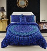 MeiLa 4 Pcs Luxury Soft Microfiber Bedclothes Plain Twill Boho Bohemian Duvet Cover Set Mandala Pattern Bedding Sets Twin Size