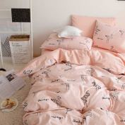 Vougemarket Soft Cotton with Lovely Printing Pattern,3 Pieces Luxury Duvet Cover Set with zipper closure-King,Flamingo