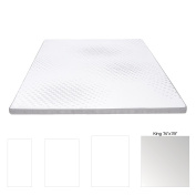 Milliard 5.1cm Gel Memory Foam Mattress Topper with Washable Removable Soft Bamboo Cover - King
