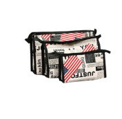 XUANOU 3PCs Cosmetic Bag Set Travel Wash Makeup Bag Toiletry Pouch Kits