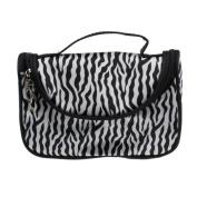 XUANOU Women Makeup Bag Zebra Stripe Printed Cosmetic Case Travel Toiletry Bag