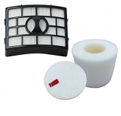 Ximoon HEPA, Foam & Felt Filter Fits Shark Navigator Lift-Away NV650 NV651 NV652 NV750 NV750REF NV750W NV751 & NV752 Vacuums, Part # XFF650 & XHF650