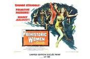 RARE POSTER thick PREHISTORIC WOMEN movie 1967 cult HAMMER REPRINT #'d/100!! 12x18