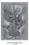 RARE POSTER thick RESCUERS DOWN UNDER movie 1990 steven spielberg SKETCH REPRINT #'d/100!! 12x18