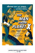 RARE POSTER thick THE MAN FROM PLANET X movie 1951 cult HAMMER REPRINT #'d/100!! 12x18