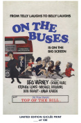 RARE POSTER thick ON THE BUSES movie 1971 cult HAMMER REPRINT #'d/100!! 12x18