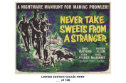 RARE POSTER thick NEVER TAKE SWEETS FROM A STRANGER movie 1960 cult HAMMER REPRINT #'d/100!! 12x18