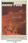 RARE POSTER thick MOON ZERO TWO movie 1969 cult HAMMER REPRINT #'d/100!! 12x18