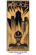 RARE POSTER thick METROPOLIS movie 1927 cult REPRINT #'d/100!! 12x18