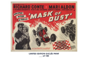 RARE POSTER thick MASK OF DUST movie 1954 cult HAMMER REPRINT #'d/100!! 12x18