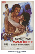 RARE POSTER thick MAN AT THE TOP movie 1973 cult HAMMER REPRINT #'d/100!! 12x18