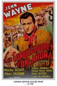 RARE POSTER thick IN OLD OKLAHOMA (Los Conquistadores de Oklahoma) movie 1943 john wayne HAMMER REPRINT #'d/100!! 12x18
